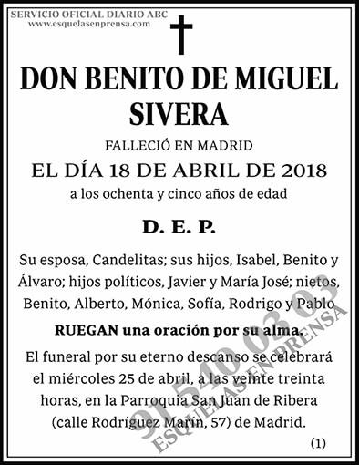 Benito de Miguel Sivera